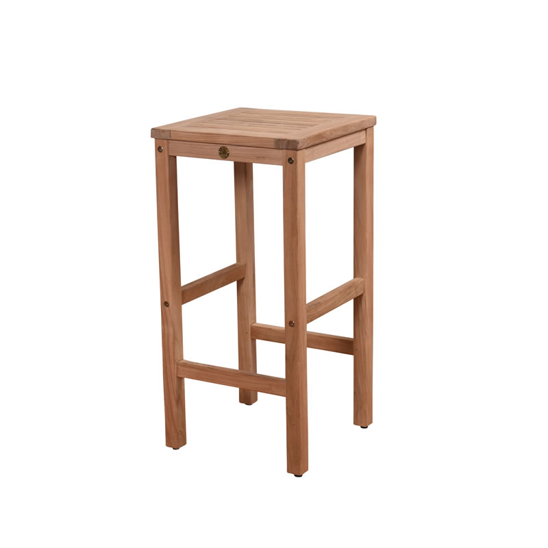 Bali Teak Backless Bar Stool