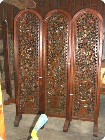 Teak Carved Screen 02 _ Bagong Style & 305 Design Center - Teak Indonesian Patio and Outdoor Furniture ...