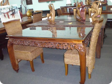 Design Center Teak Indonesian Patio And Outdoor Furniture Miami - Indonesian teak dining table