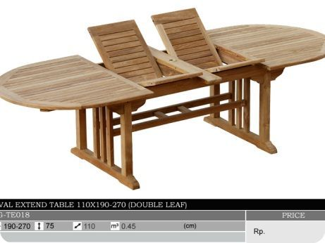 Oval Expandable Teak Patio Table