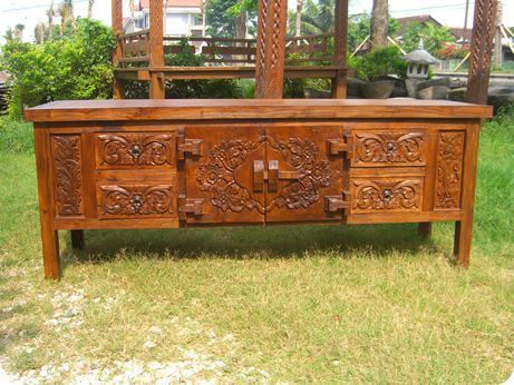 Teak Buffet   Bali Antique Style