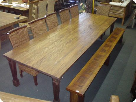 96d383ed8fac Large Rustic Dining Table