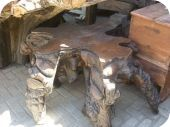 Carved Tree Trunk Coffee Table