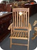 Adjustable Teak Patio Chair w/ Arms